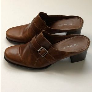 Naturalizer Brown Leather Slip-on Mule Size 8 1/2
